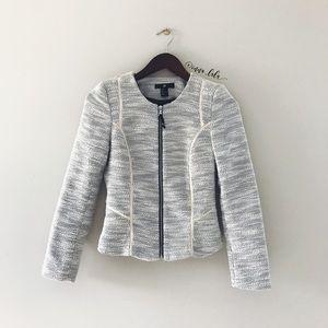 H&M • Tweed Zippered Blazer